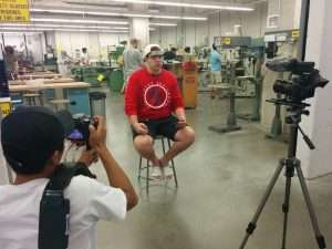 Tim interview video shoot